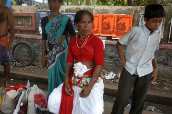 Vellichappadu (woman Oracle ) after hours long performances at Kodungalloor Temple, Kerala