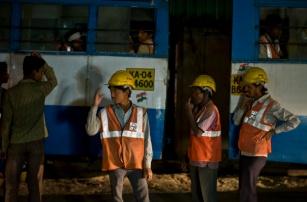 from North Karnataka, construction workers at levlee Road, Bangalore