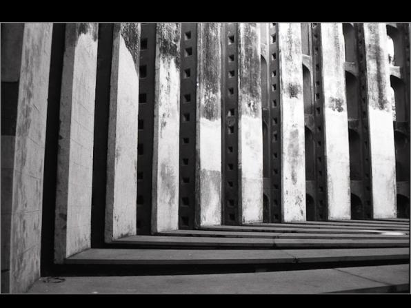 Jantar Mantar , new delhi, New DElhi 1997. B&W ORWO 125asa film