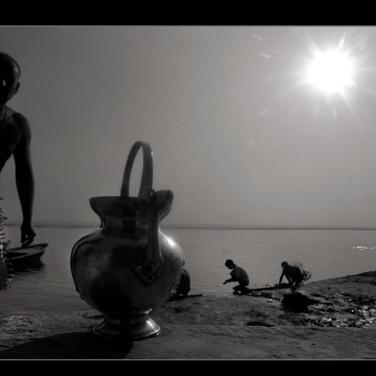 Varanasi, 2002. B&W Kodak 400 asa film