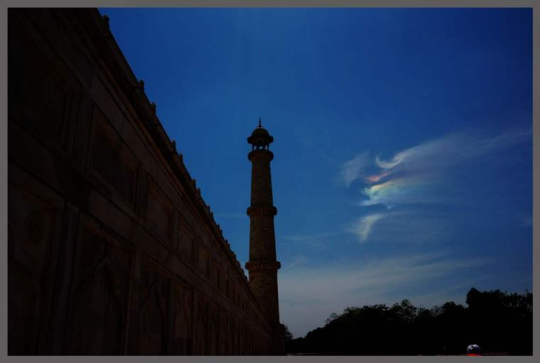 Happy Holi....  a colorful clouds above Taj mahal