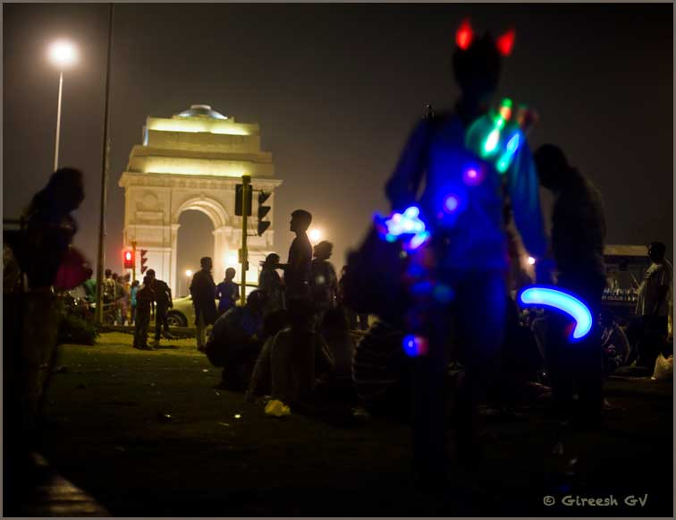 a year back, at India Gate