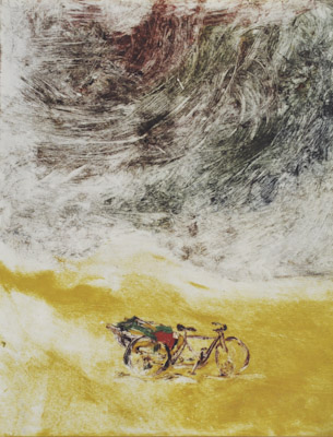 """"""".... in the gale"""" print ink on paper 1994 ( IN Private Collection)"""