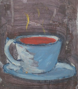 """"""" A Cup of ,,,,"""" 1994 Oil on film sheet"""