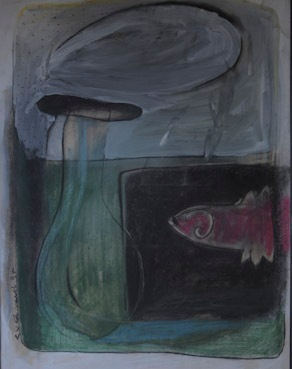 """"""" Arguments"""" -01 Charcoal, pastels and acrylic on paper"""