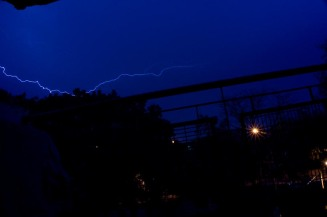 Hoping to be struck by lightning...,