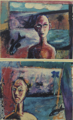 """MAN,FISH & Landscape"""" 1993 ( in private collection)"""