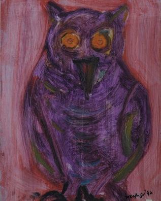 OWL 1995, oil on film sheet.