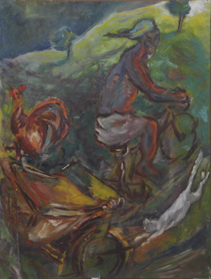 spur-of-the-moment-1995 Oil on canvas