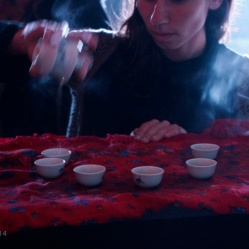 The Chinese tea before the performance.