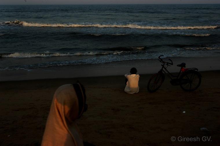 an evening near marine drive in Chennai