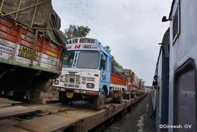 Trucks on railways wagons