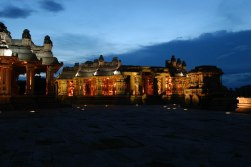Illuminated Vittala temple, Hampi