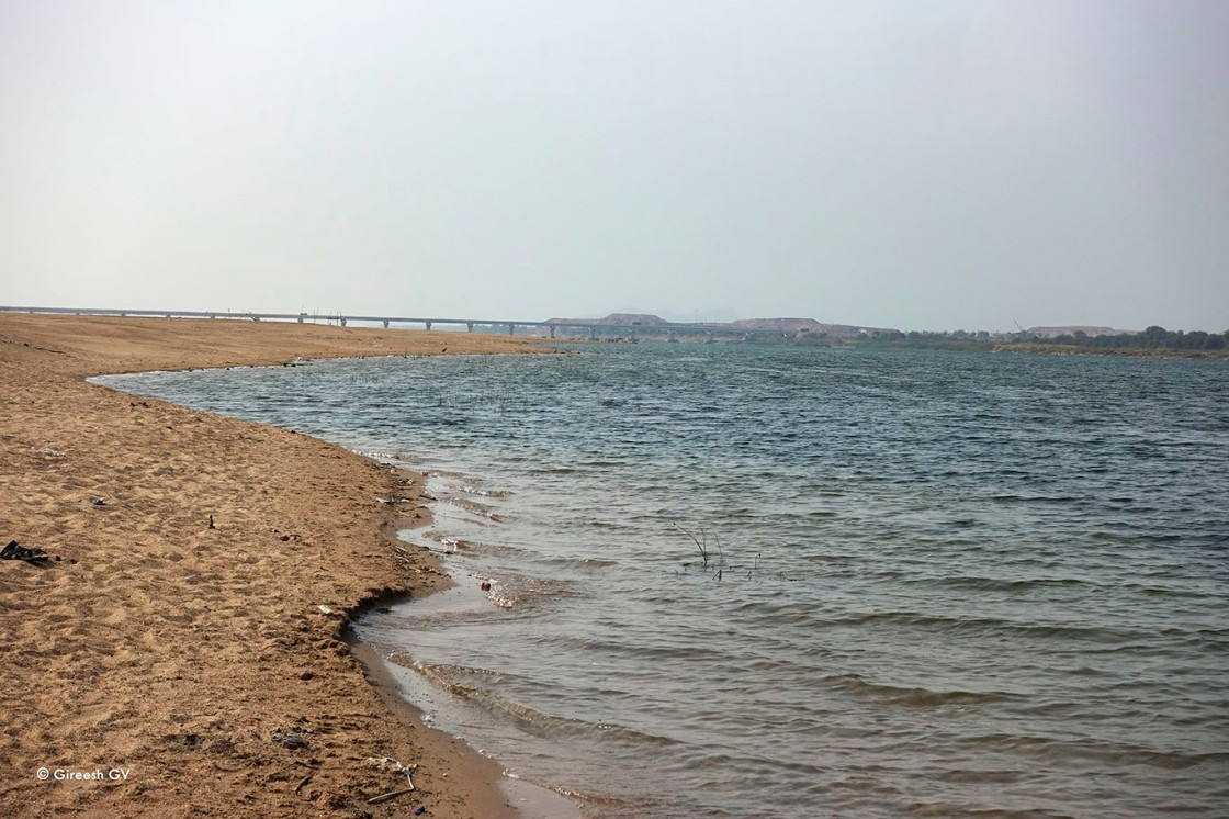River Godhawari at Sangam in Kaleswaram, Telengana